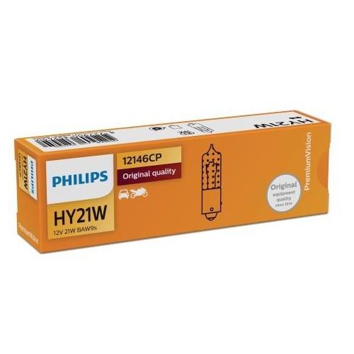 PHILIPS 12V HY21W 21W Amber