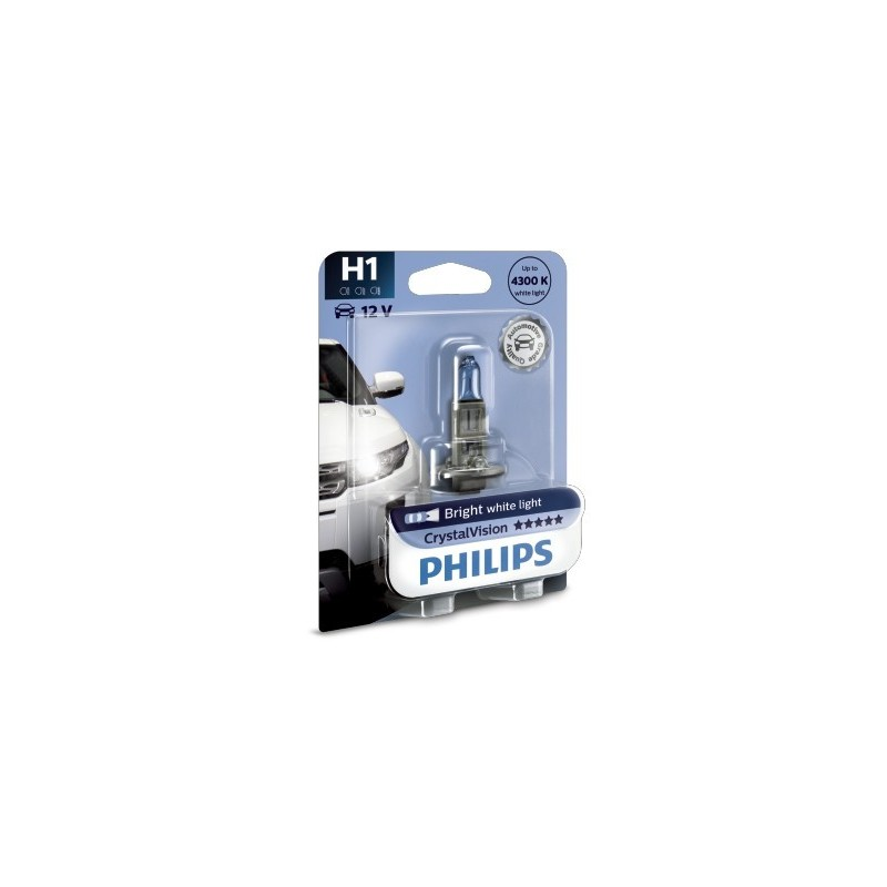 PHILIPS H1 12V 55W CRYSTAL VISION