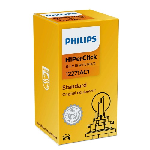 PHILIPS 12V PCY16W 16W HiPer Vision