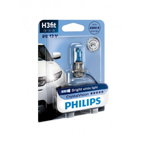 PHILIPS H3 12V 55W CRYSTAL VISION