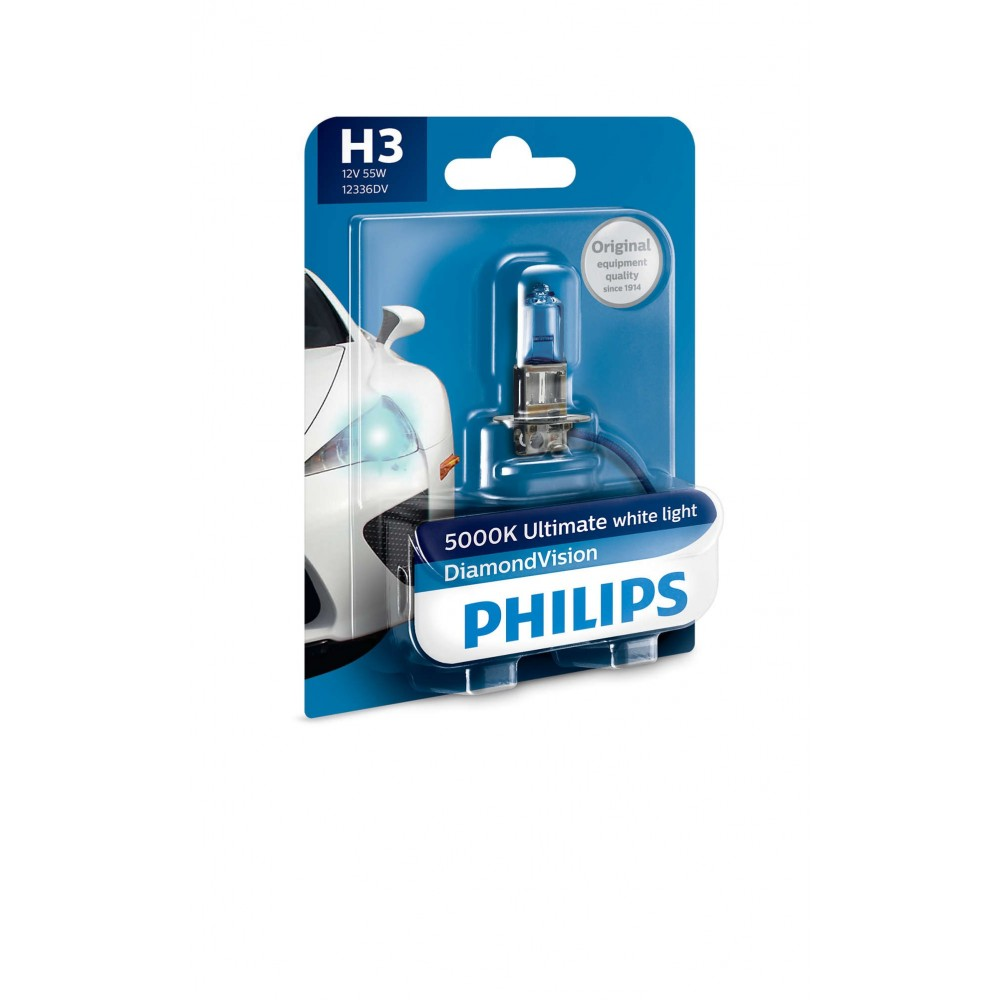 PHILIPS H3 12V 55W DIAMOND VISION