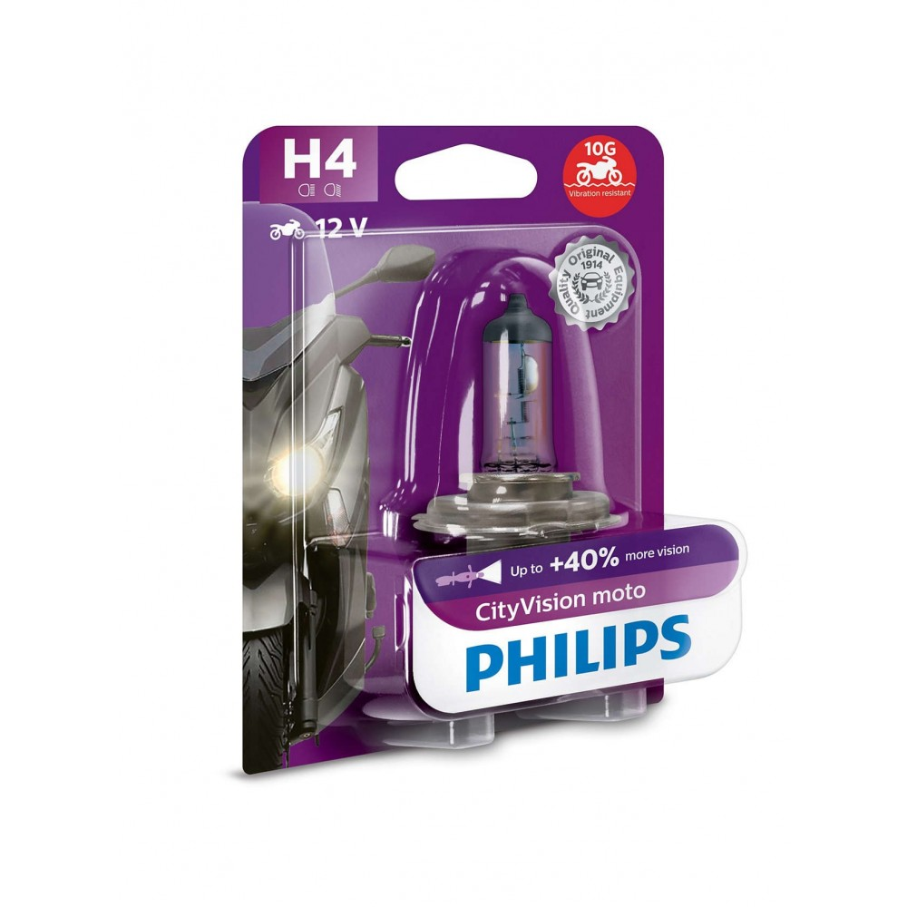 PHILIPS H4 12V 60/55W CITY VISION MOTO