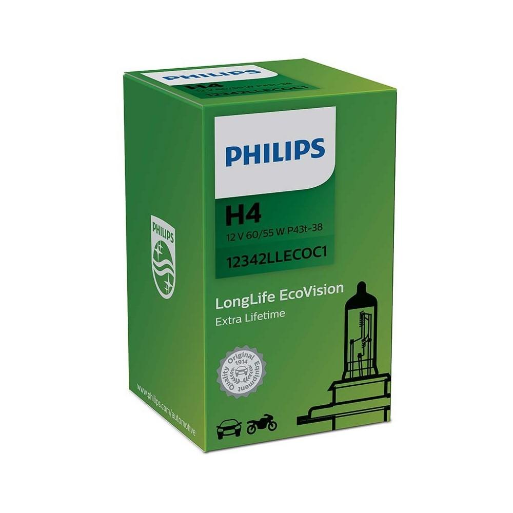 PHILIPS H4 12V 60/55W LONGLIFE ECOVISION
