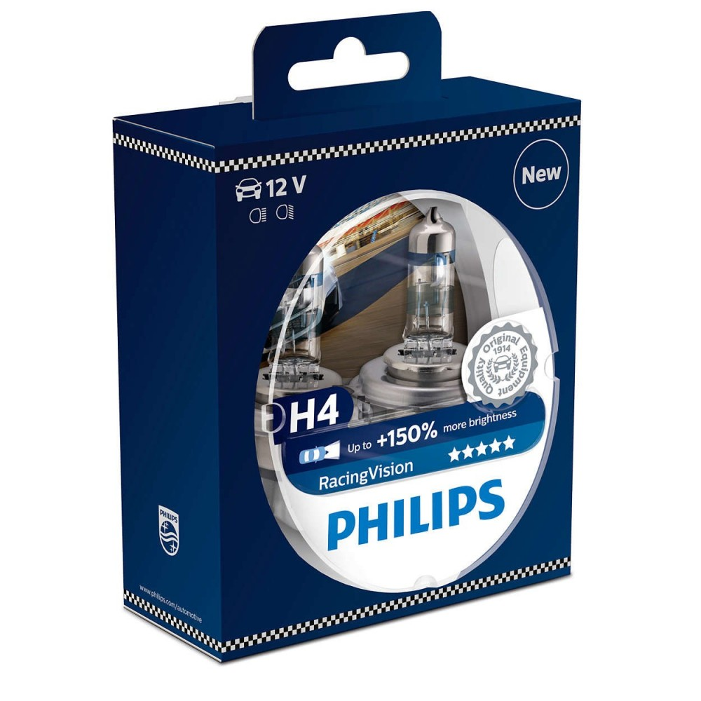 PHILIPS H4 12V 60/55W RACING VISION
