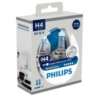 PHILIPS H4 12V 60/55W WHITE VISION