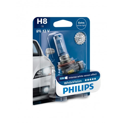 PHILIPS H8 12V 35W WHITE VISION