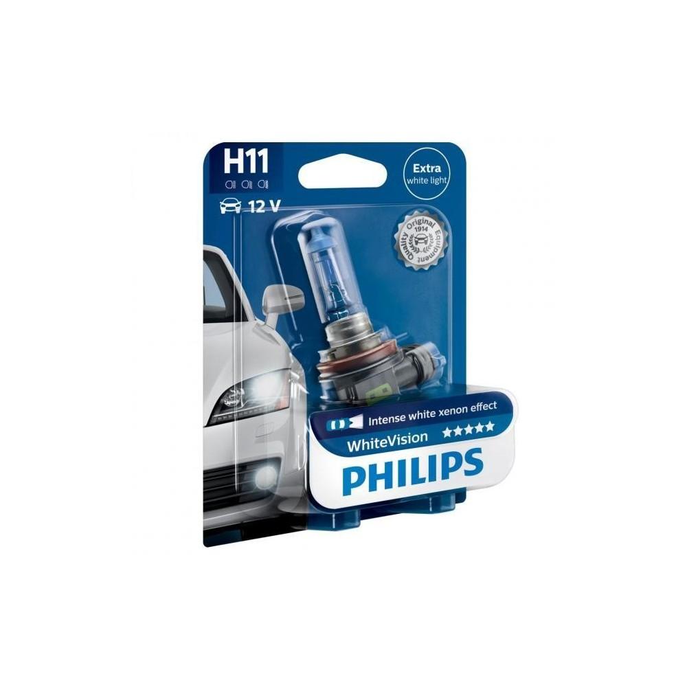 PHILIPS H11 12V 55W WHITE VISION