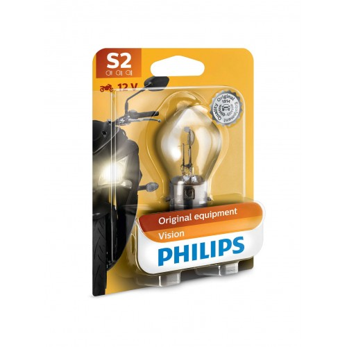 PHILIPS S2 12V 35/35W VISION MOTO +30%