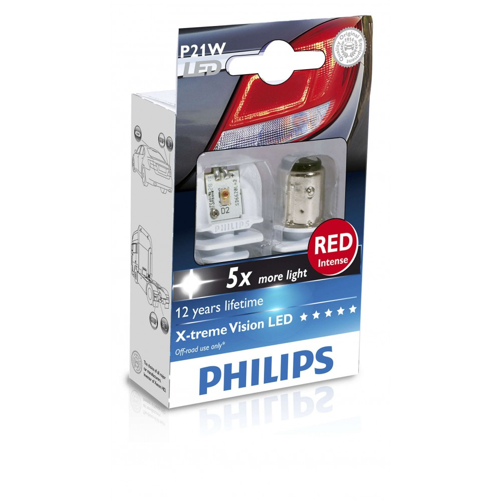 PHILIPS LED P21W 12V 21W RED