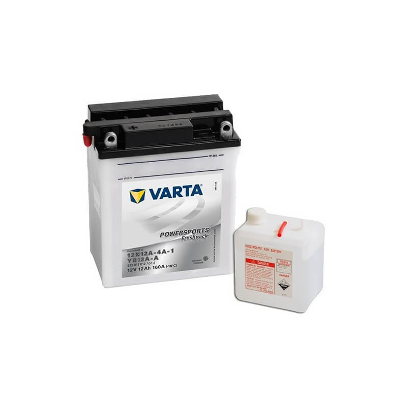 Varta Powersports Freshpack 12N12A-4A-1/YB12A-A