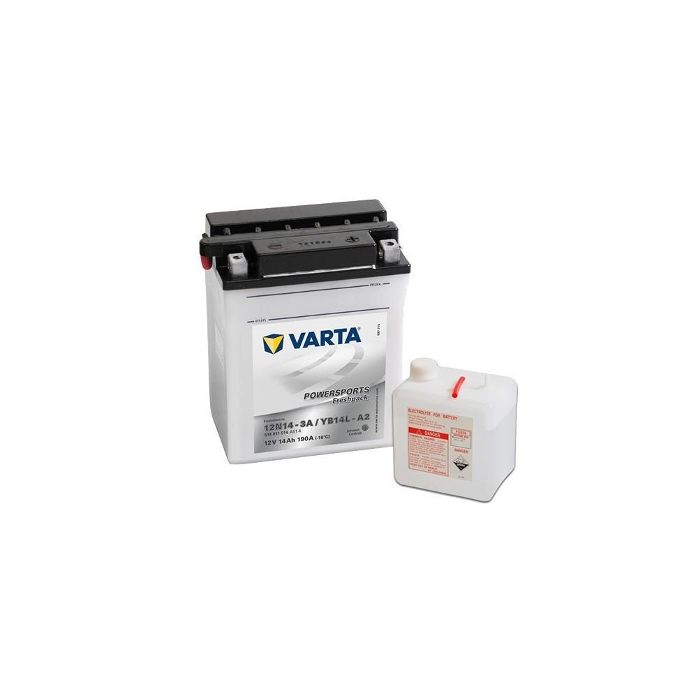 μπαταρια αυτοκινητου Μπαταρία μοτό Varta POWERSPORTS Freshpack YB14L-A2 Μπαταρία ανοιχτού τύπου