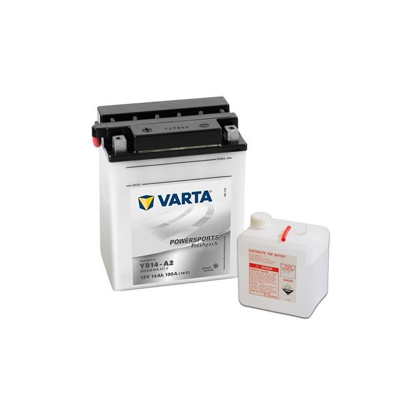 μπαταρια αυτοκινητου Μπαταρία μοτό Varta POWERSPORTS Freshpack YB14-A2 Μπαταρία ανοιχτού τύπου