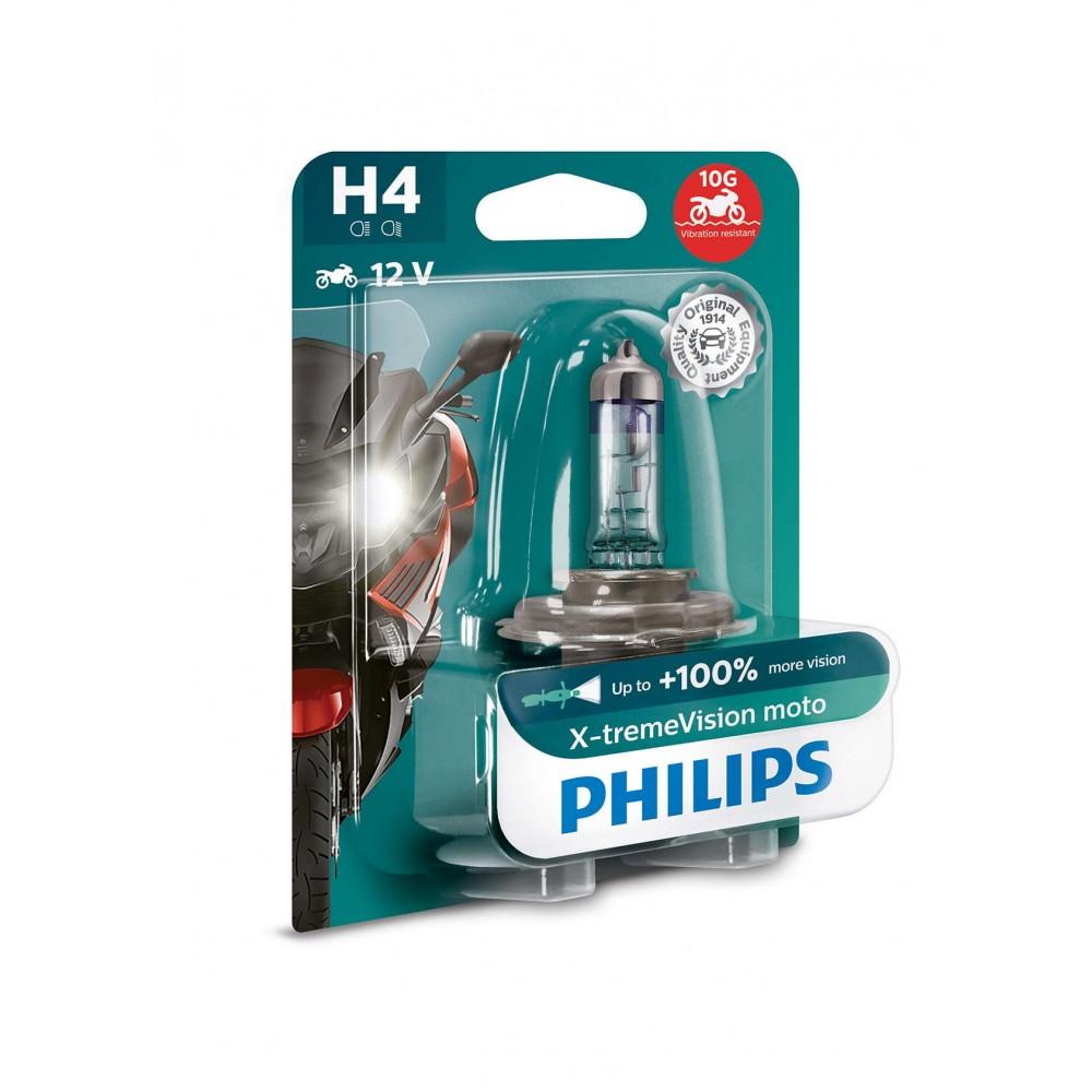 PHILIPS H4 12V 60/55W X-TREME VISION MOTO