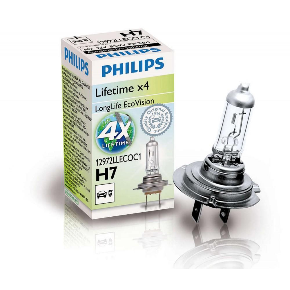 PHILIPS H7 12V 55W LONGLIFE ECOVISION