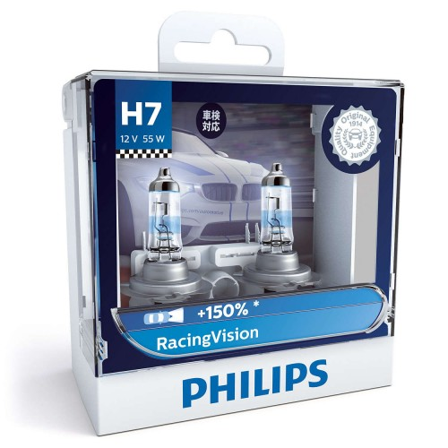 PHILIPS H7 12V 55W RACING VISION
