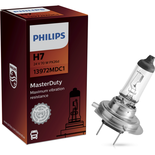 PHILIPS H7 24V 70W MASTER DUTY