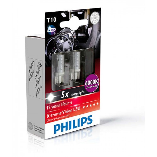 PHILIPS LED T10 6000K 24V 1W