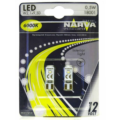 NARVA LED T10 6000K 12V 0.5W