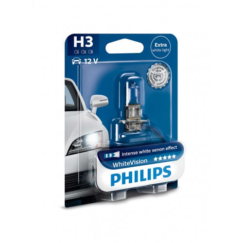 PHILIPS H3 12V 55W WHITE VISION