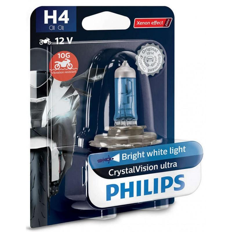 Philips H4 12V 60/55W CRYSTAL VISION MOTO