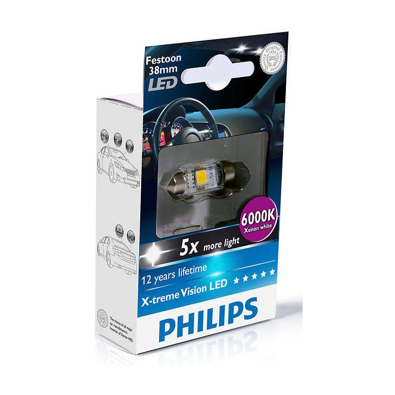 PHILIPS LED FEST 38mm 6000K 12V 1W