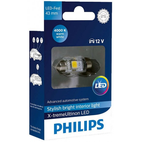 PHILIPS LED FEST 43mm 4000K 12V 1W