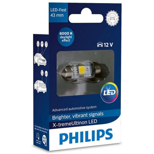 PHILIPS LED FEST 43mm 6000K 12V 1W