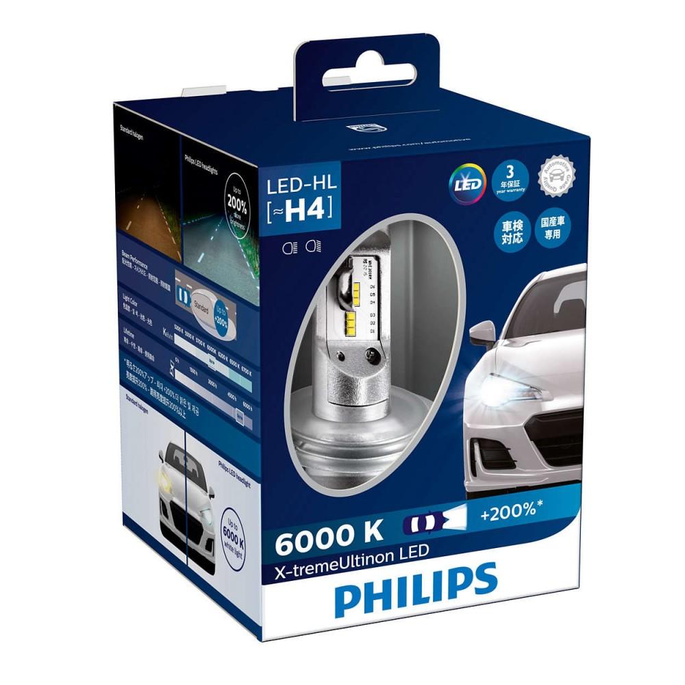 PHILIPS LED H4 12/24V 23W +200%
