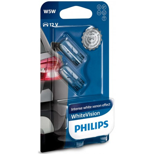 PHILIPS 12V 5W WHITE VISION