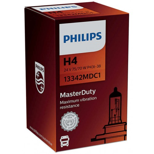 PHILIPS H4 24V 75/70W MASTER DUTY
