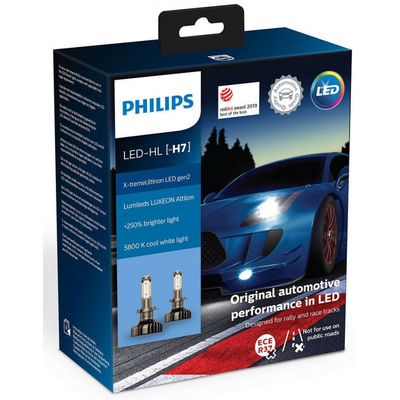 PHILIPS LED HL H7 X-TREME ULTINON LED GEN2 +250%
