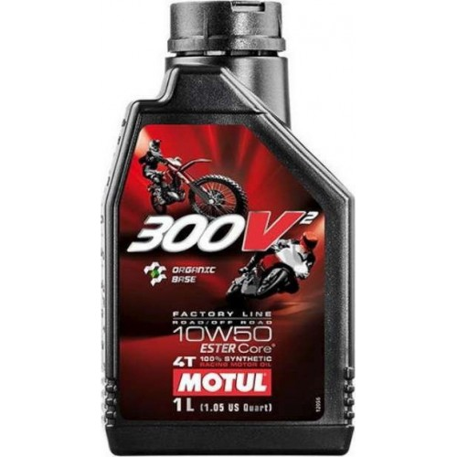 MOTUL 300V2 4T ROAD/OFF ROAD 10W50