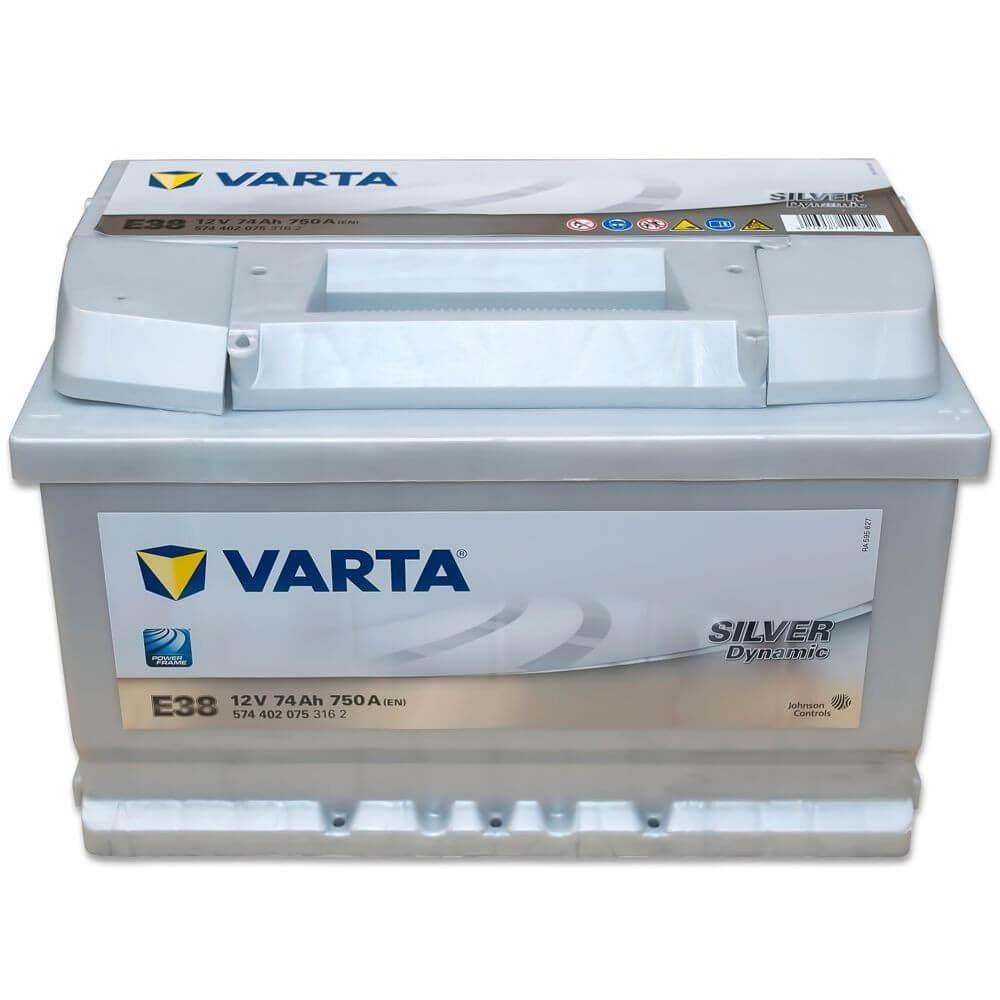 μπαταρια αυτοκινητου Μπαταρία αυτοκινήτου Varta Silver Dynamic E38 Μπαταρίες κλειστού τύπου