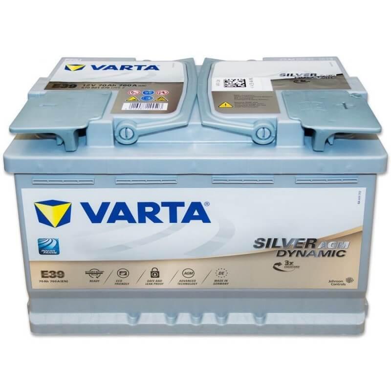 μπαταρια αυτοκινητου Μπαταρία αυτοκινήτου Varta Silver Dynamic AGM E39 Μπαταρίες Start-Stop