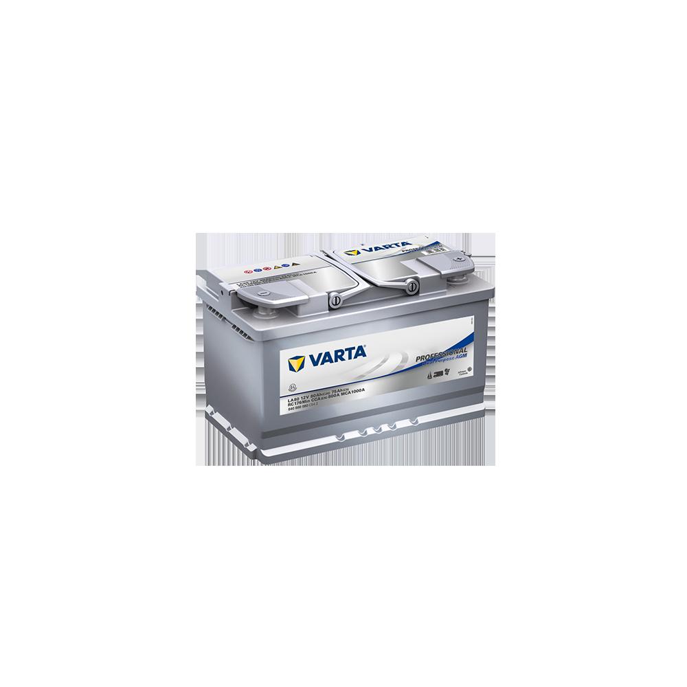 μπαταρια αυτοκινητου Varta Professional Marine AGM Dual - LA80 Μπαταρίες διπλού σκοπού