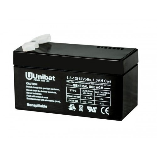 ΜΠΑΤΑΡΙΑ (VRLA) UNIBATPOWER FOR LIFE 12V 1,3AH