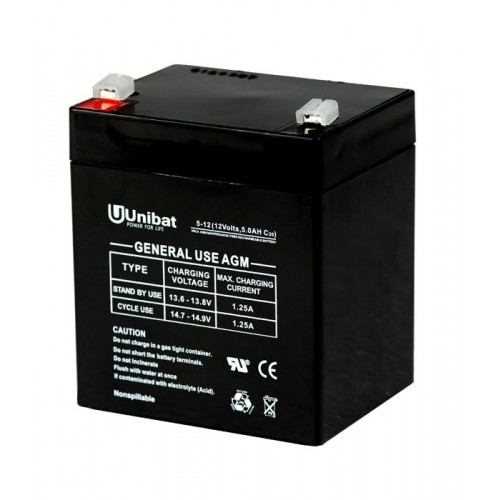 ΜΠΑΤΑΡΙΑ (VRLA) UNIBATPOWER FOR LIFE 12V 5AH