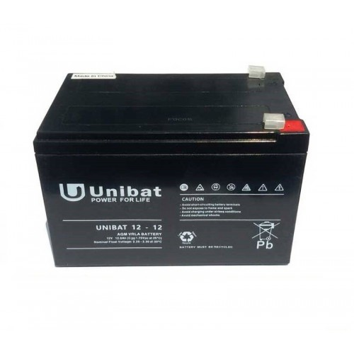 ΜΠΑΤΑΡΙΑ (VRLA) UNIBATPOWER FOR LIFE 12V 12AH