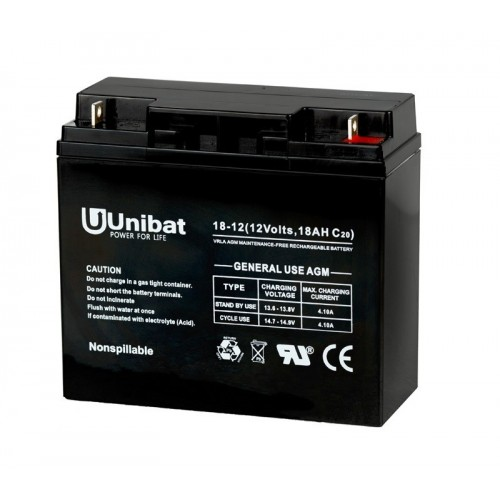 ΜΠΑΤΑΡΙΑ (VRLA) UNIBATPOWER FOR LIFE 12V 18AH