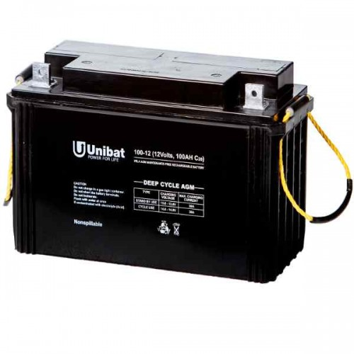 Μπαταρία Βαθιάς Εκφόρτισης Unibat AGM 12-100DC C120 125Ah 12V