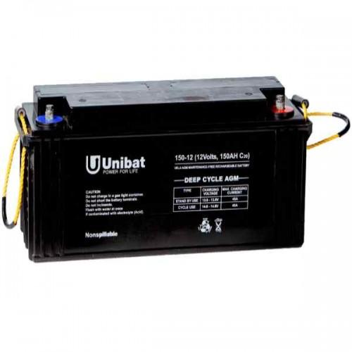 Μπαταρία Βαθιάς Εκφόρτισης Unibat AGM 12-150DC C120 187Ah 12V