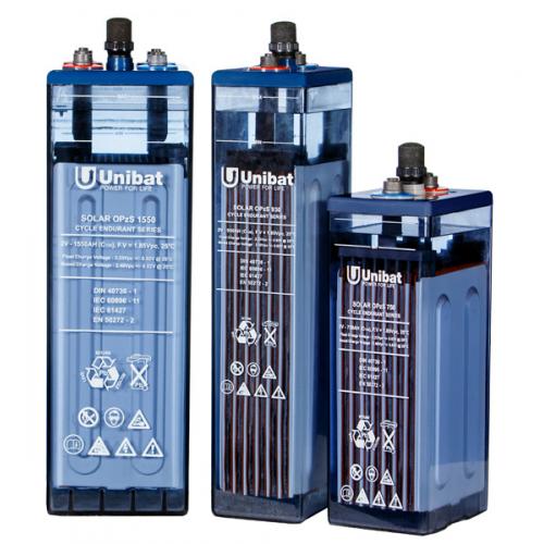 Μπαταρία Φωτοβολταϊκών βαθειάς εκφόρτισης με υγρά UNIBAT SOLAR OPzS 1265