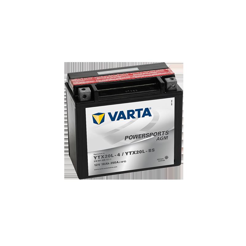 μπαταρια αυτοκινητου Μπαταρία μοτό VARTA Powersports AGM YTX20L-BS Μπαταρία κλειστού τύπου